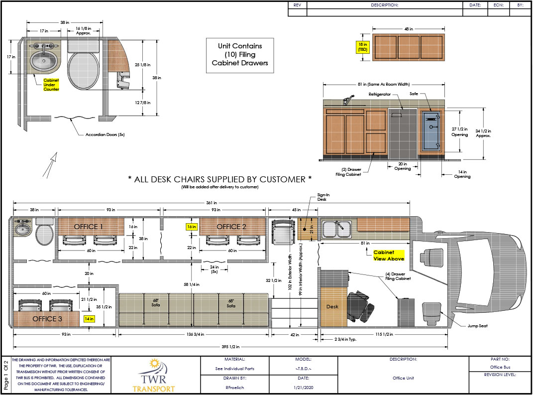 Medical Office Unit specialty bus floor plan