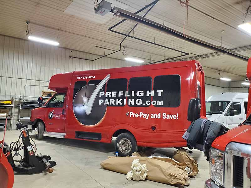 PreFlightParking.com Vehicle Paint and Graphics by - TWR, New Paris, IN 46553